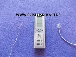 prisluskivac snimac za fiksni telefon standard