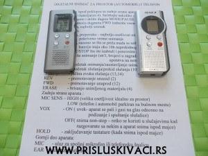 digitalni snimaci prevedeno uputstvo