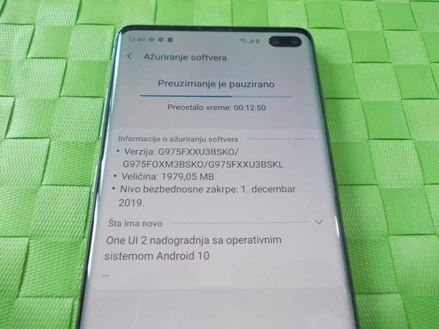 Android 10 ažuriranje softvera